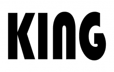 King Letters dxf File