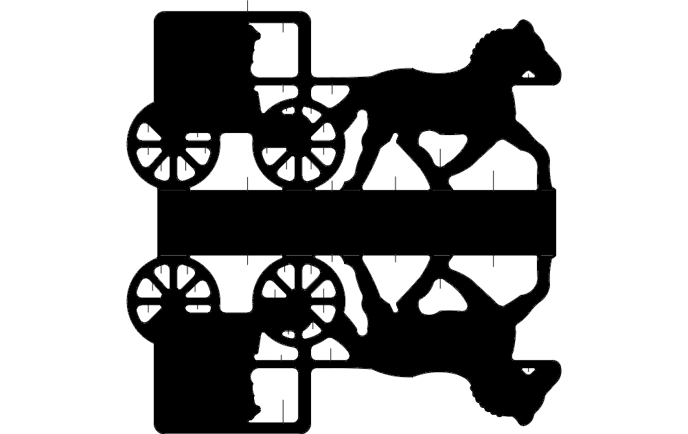 Horse Cart Dxf File Free Download 3axis Co
