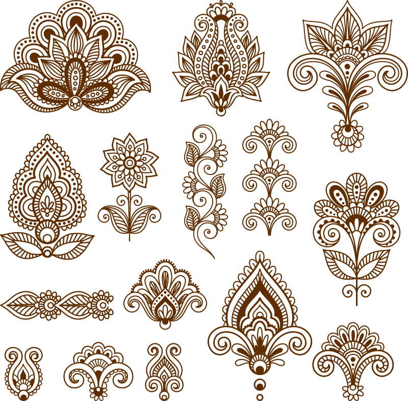 Mehndi Free Vector Art Free Vector cdr Download , 3axis.co