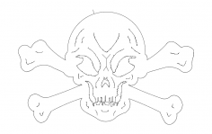 Skull And Crossbones dxf File