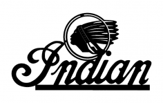 Indian Logo dxf File
