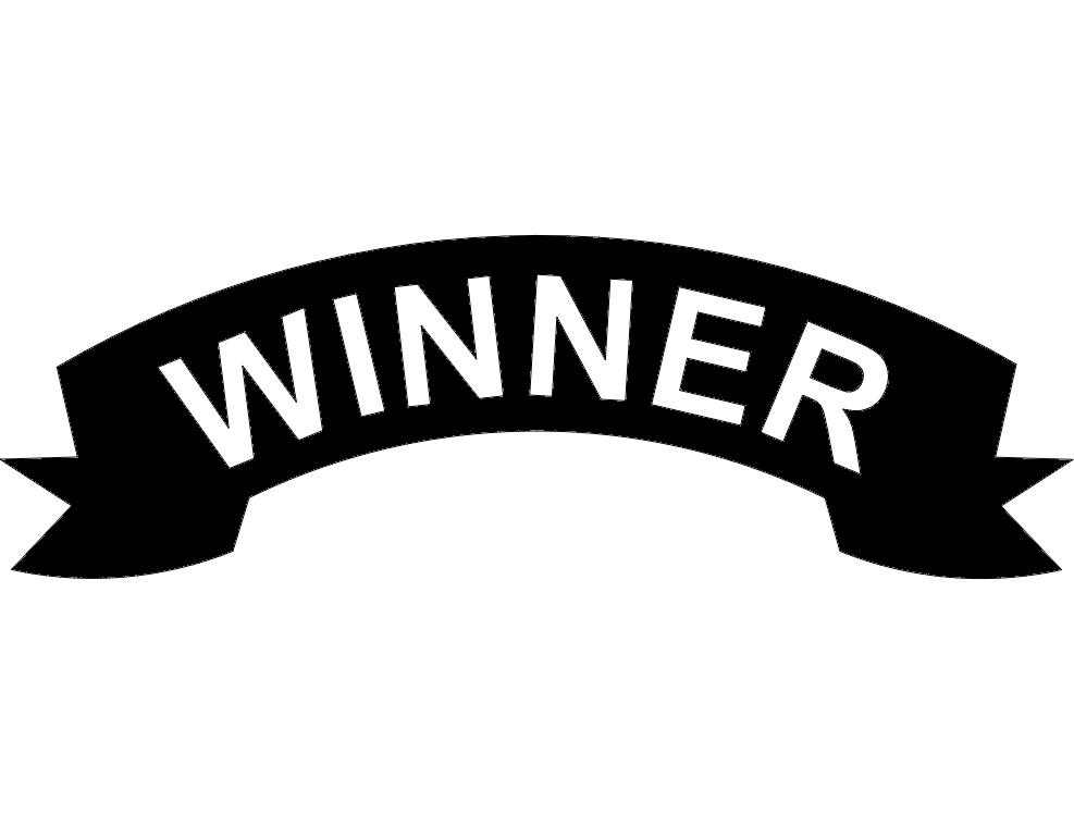 winner banner dxf file free download