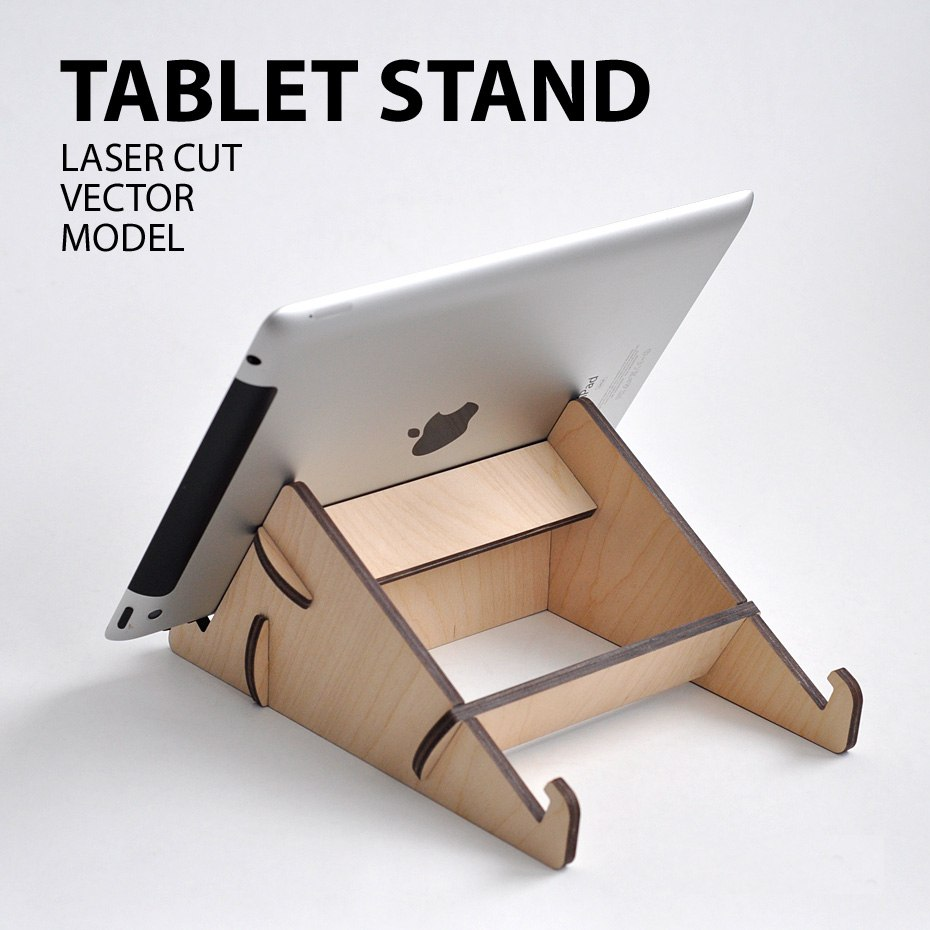 Tablet Stand Laser Cutter Project Plan Dxf File Free
