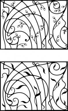 Wrought Iron Gate, Door, Fence, Window, Grill, Railing Design Vector Art CDR File