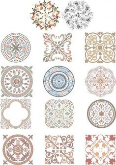 Floral Ornaments Vectors CDR File
