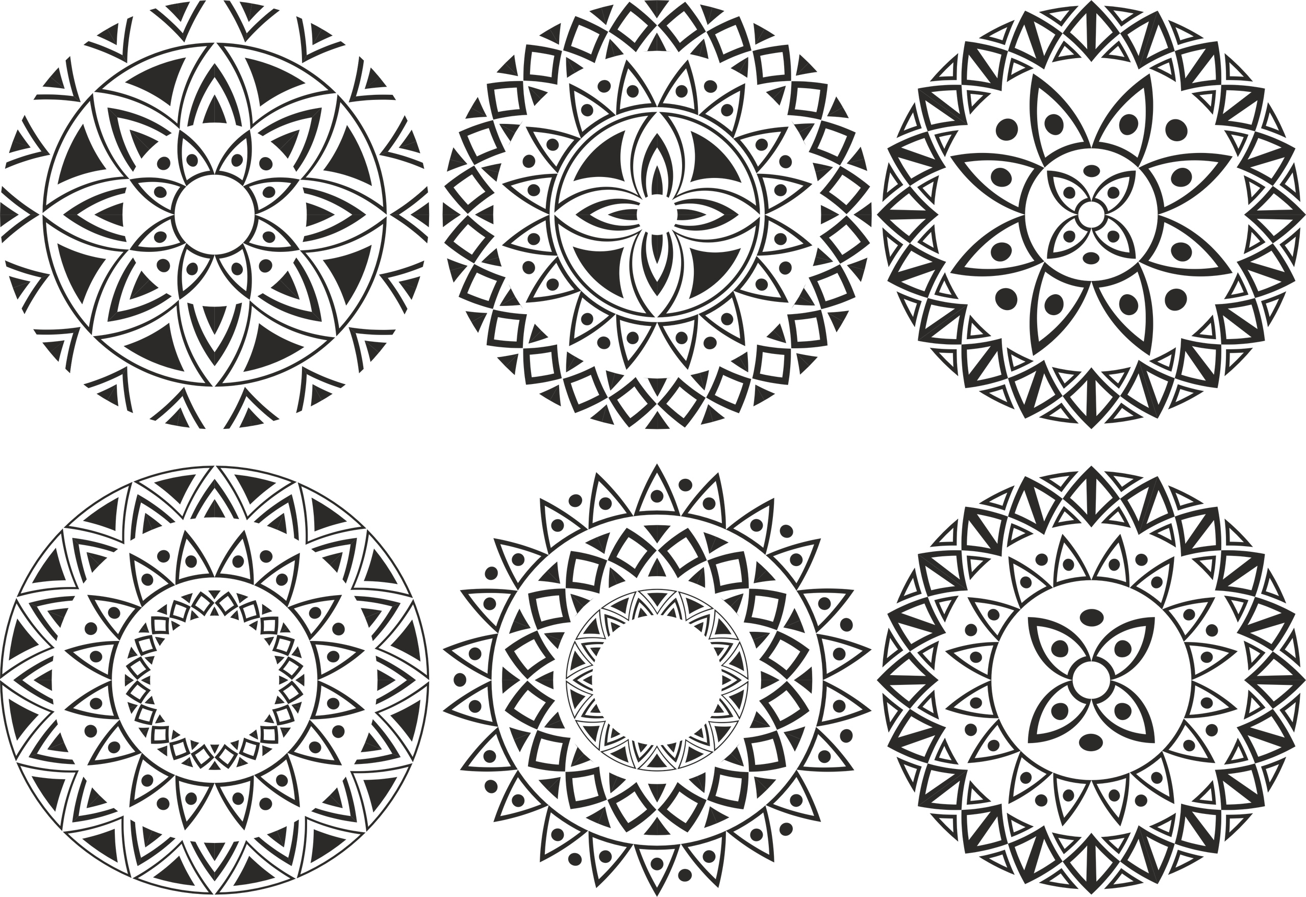 ornament circle vectors set free vector cdr download 3axis co ornament circle vectors set free vector