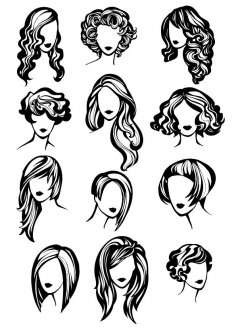 Hair Style CDR File