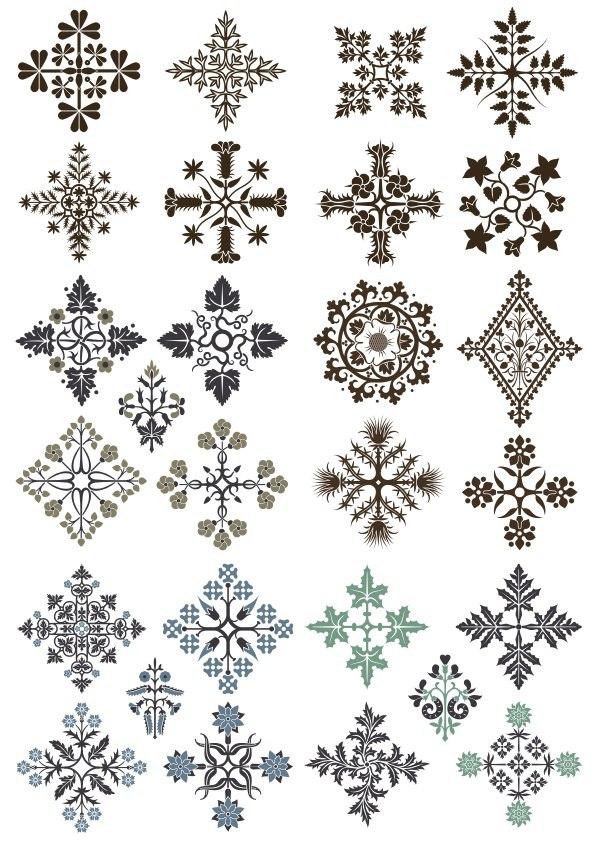 Ornamental Floral Patterns CDR File