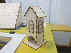 Simple Tea House Plywood Laser Cutter Project Free Vector