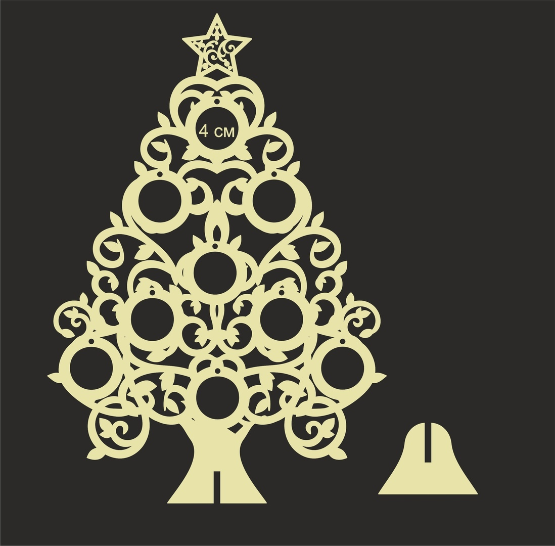 Wooden Christmas Tree Laser Cut Cnc Template Free Vector Cdr Download 3axis Co