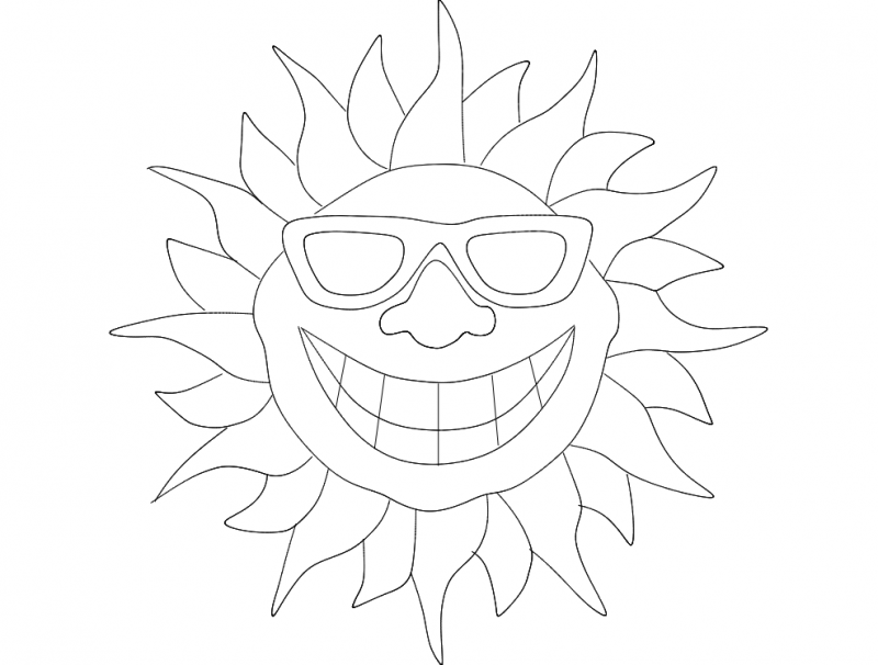 Smile Sun dxf File
