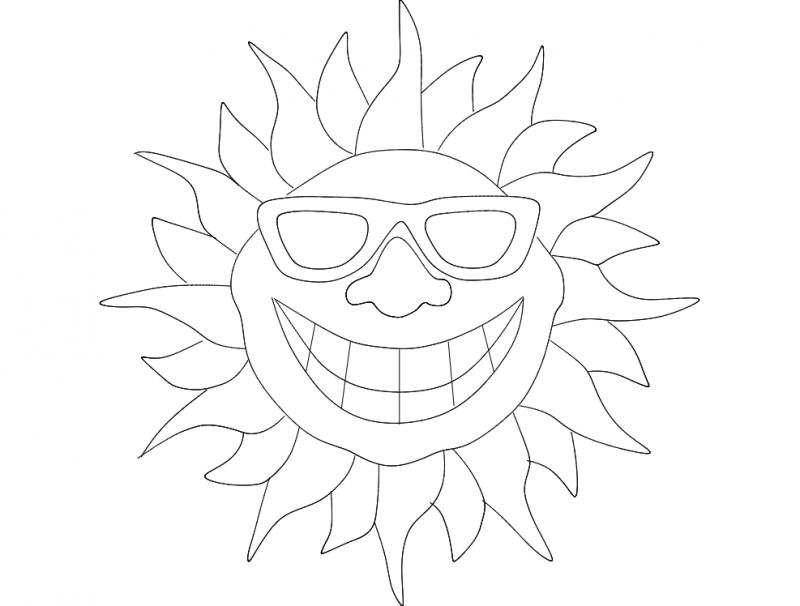 Smile Sun dxf File