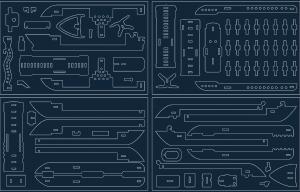 Luxury Yacht Puzzle dxf